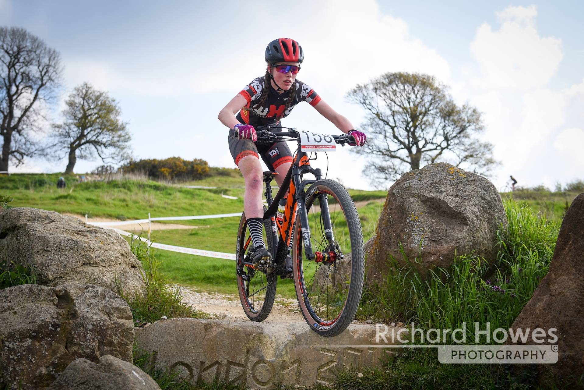 Abby fight her way to 8th at the National Series in Hadleigh after a being caught in a crash and being second to last on the opening lap.